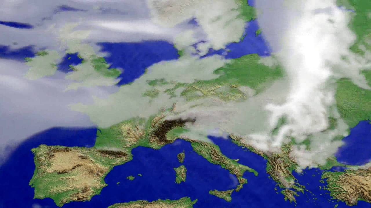 Cloud forecast Europe 2016-07-01