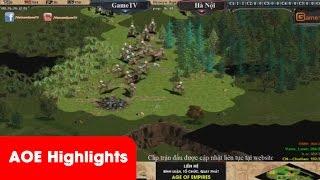 AOE HighLights - Kèo thi đấu 2vs2 Hồng Anh cầm Assy và cân 3, game đế chế, clip aoe, chim sẻ đi nắng, aoe 2015
