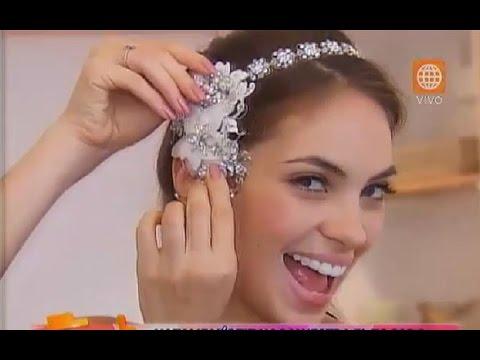 Natalie Vértiz mostró el tocado que usará en su boda con Yaco Eskenazi