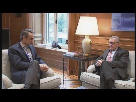 Συνάντηση του πρωθυπουργού με τον επικεφαλής του ΕSM, Κλάους Ρέγκλινγκ