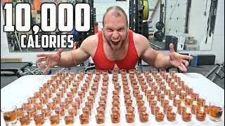 "150 Shots of Maple Syrup Challenge! (10,000 Calories)  SUBSCRIBE: http://bit.ly/Sub2FuriousPete ➢FREE WORLDWIDE SHIPPING SALE: http://furiousapparel.com➢Watch this next, Burger King's BIGGEST Whopper Ever: https://www.youtube.com/watch?v=r9GFXxlxMWU&index=1&list=PLQdB5cnMHAqc13C9ReefKf5HA8YzXiD8DThe Challenge is simple. This is the new Canadian ""150 Warheads"" challenge. Play the Canadian national anthem and see how many shots of maple syrup you can down during that time (1:17). Good luck and tag me in your videos! Happy Canada to you all!=======================================Apparel  Lifting Gear:➢Furious Apparel: http://FuriousApparel.com➢Lifting Gear: http://bit.ly/LiftingGear➢Weight Plate Necklaces: http://bit.ly/TCNecklaces Supplements  Workout Programs:➢GOKU GAINS Pre-Workout: http://FuriousFormulations.com➢Workout Programs: http://coaching.furiouspete.com=======================================Follow & Interact with me:➢Facebook: http://facebook.com/furiouspete123➢SnapChat: http://bit.ly/FuriousOnSnap➢Instagram: http://instagram.com/furiouspete➢Twitter: http://twitter.com/furiouspeteCheck Out My Other Channels:➢Furious Pete Vlogs: https://youtube.com/user/FuriousTalks➢Furious Pete Gameplay: https://youtube.com/user/FuriousGamePlay=======================================[MY FILMING EQUIPMENT: CAMERAs, MICs etc]: http://bit.ly/WhatIShootWith=======================================Watch More Furious Pete:➢Furious World Tour: http://bit.ly/FuriousWorldTour➢Food Challenges: http://bit.ly/AllFoodChallenges➢Collabs with YouTubers: http://bit.ly/CollabsWithYoutubers➢Hacks & Pranks: http://bit.ly/HacksPranks➢Popular Videos: http://bit.ly/FuriousPetePopularVids➢Latest Videos: http://bit.ly/FuriousPeteLatestVidsWatch More Furious World Tour:➢Biggest, Best & Most Famous Eats in America: https://youtube.com/watch?v=diDgHD-MEOU➢Hawaii: https://youtu.be/yEVo7erhIUU➢Seoul/Korea: https://youtu.be/ixAePROGiFc➢Vienna/Austria: https://youtu.be/fBb-BNX7xY0➢Germany: https://youtu.be/w7UDGVo6Glg =======================================Help translate my videos: http://youtube.com/timedtext_cs_panel?tab=2&c=UCspJ-h5Mw9_zeEhJDzMpkkA=======================================Fan Mail/Packages:Furious Pete1801 Lakeshore Rd W Unit 6PO Box 52559 Turtle CreekMississauga, ON, L5J 4S6 CanadaBusiness Inquires Only: Events@furiouspete.com"