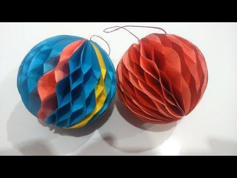 Как сделать елочную игрушку из бумаги из картона
