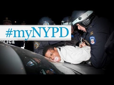 at - NYPD launched a campaign to soften the publics opinion by asking for photos using #myNYPD. It didn't go as planned. Buy some awesomeness for yourself! http://www.forhumanpeoples.com/collections/so...
