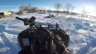 8. HONDA RANCHER 420 COLD START, PLAYING IN THE SNOW AND WALK AROUND