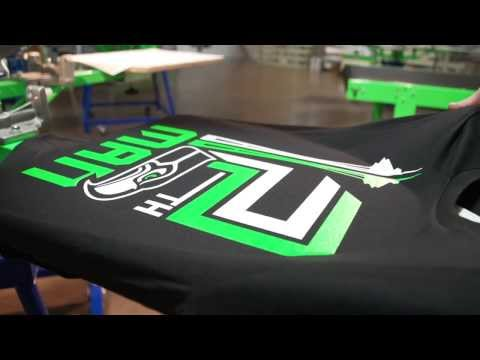 Screen Printing a Two Color Football Design With Comet White Ink