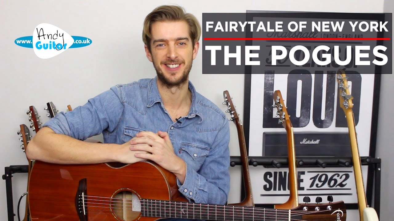 Fairytale Of New York Guitar Lesson Tutorial // EASY CHORDS // Christmas Songs on guitar
