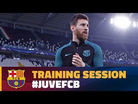Buổi tập cuối cùng của Barcelona trên sân Juventus