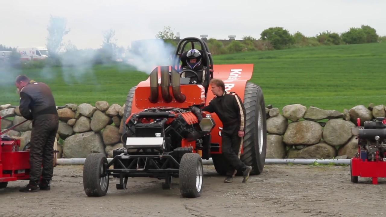 Se video fra søndagens traktorpullingstevne på Bryne