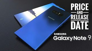 Samsung galaxy note 9 concept price specifications and release date in India
