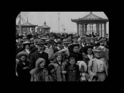 May 1904 - Blackpool Victoria Pier, Lancashire (w/ added sound)