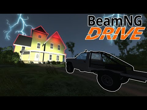 This Map Has A Ghost Car & Haunted House! - BeamNG Drive Gameplay - Scary Map