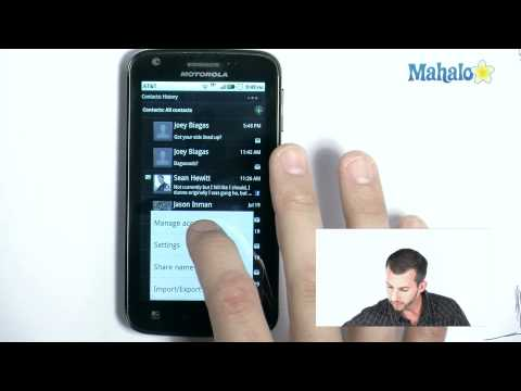 how to add facebook contacts to droid x
