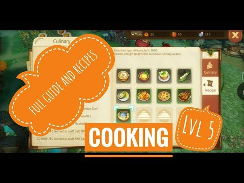 Laplace M - Lv5 Full Guide Cooking Cuisines + Recipes!!!