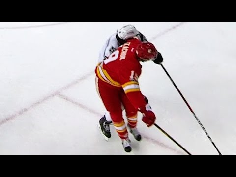 Video: Tkachuk with a vicious elbow to the face of Doughty