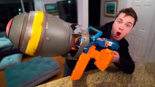 THE NERF NUKE! WE MADE THE MOST Dangerous NERF Gun DEVICE EVER in this DIY Experiment!! Also WATCH ME FREEZE MY ARM IN LIQUID NITROGEN ▸ https://youtu.be/Z-l...