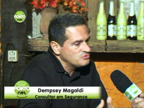 Entrevista o consultor em segurana Dempsey Magaldi, proprietrio da Escola de Tiro Magaldi. 