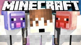 Minecraft Modded Minigame: MITCH THE SHEEP?! - (Winter Lucky Block Bridges) - w/Preston&Friends!