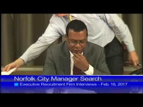 Norfolk City Manager Search - Recruitment Firm Interviews