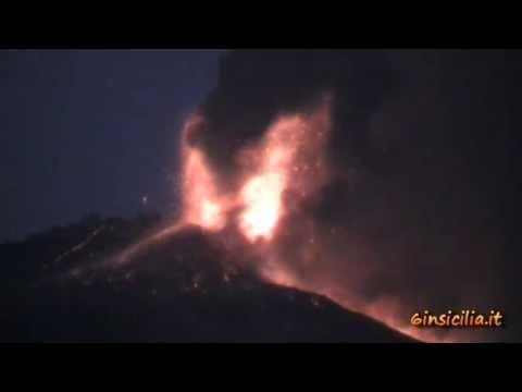 Eruzione Etna : VIDEO e FOTO del parossismo 27-28 Aprile 2013