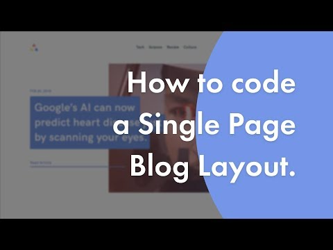 Code A Single Page Blog Website Layout | Speed Code | Part 2/2