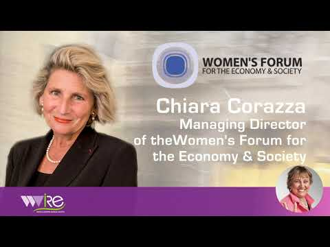 Chiara Corazza Managing Director of the Women's Forum for the Economy & Society interviewed by WWIRE Part 1