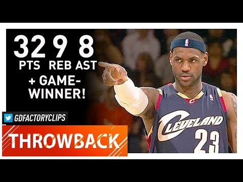 Throwback: LeBron James EPIC Highlights vs Warriors (2009.01.23) - 32 Pts, GAME-WINNER!
