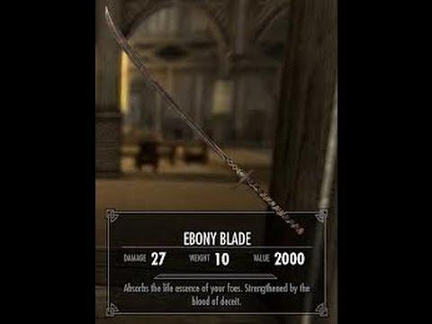 skyrim ebony blade