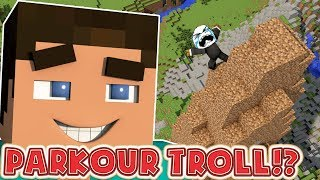 I CAN'T BELIEVE I TROLLED HIM - MINECRAFT THE TROLL PARKOUR CHALLENGE