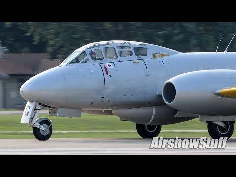 Various warbirds arrive to runway...