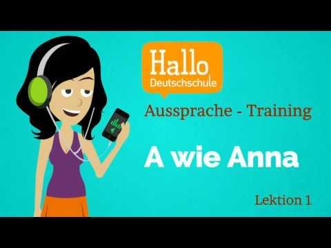 Deutsch lernen A1.1 Aussprache Lektion 1 (видео)