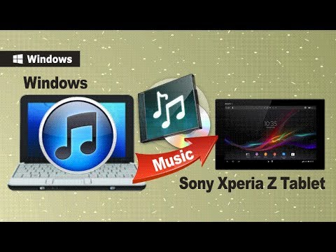 how to sync itunes to sony xperia z