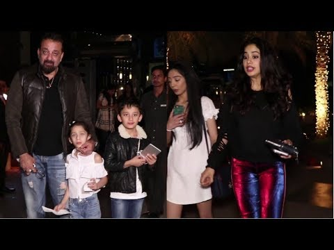 Sanjay Dutt And Jhanvi Kapoor Spotted At Yauatcha Mumbai