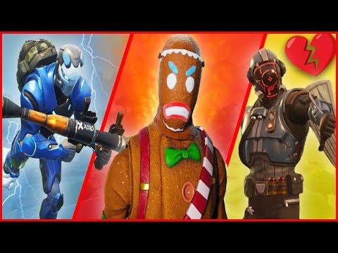 A Story of LOW Sensitivity, A Gingerbread Man & Heartbreak! - Fortnite Gameplay