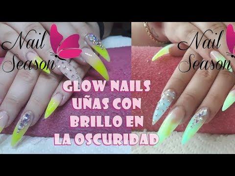 Videos de uñas - Glow Nails Baby Boomer paso a paso Uñas con brillo en oscuridad