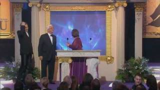 Kathy Burke wins an award at the British Comedy Awards 2002. Presented by Leslie Nielsen and Jonathan Ross.