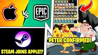 Apple vs Epic UPDATE (Valve Joins), Family Guy in Fortnite, Peter Griffin Skin!