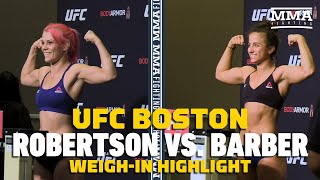 UFC on ESPN 6: Gillian Robertson, Maycee Barber Make Weight - MMA Fighting by MMA Fighting