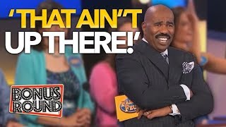 Video 5 UNEXPECTED FAMILY FEUD ANSWERS That WERE On The Board! Steve Harvey Can't Believe It! Bonus Round MP3, 3GP, MP4, WEBM, AVI, FLV Maret 2019