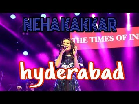 Neha Kakkar live performance hyderabad 2019 16th March #  neha Kakkar live show hyderabad