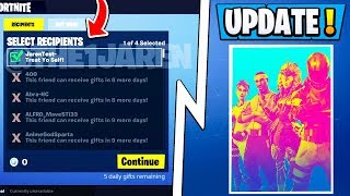 *BIG* Fortnite Update! | All Gifting Details, Tournaments Feature Release Date!
