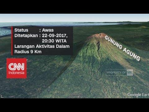 Status Gunung Agung Jadi Awas , Bali Waspada Penuh