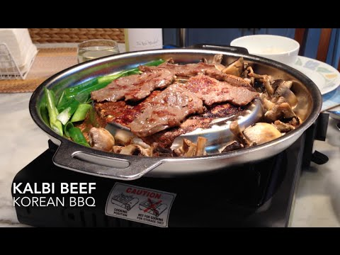 Kalbi or Galbi Beef Korean BBQ  갈비구이  cheekyricho video recipe