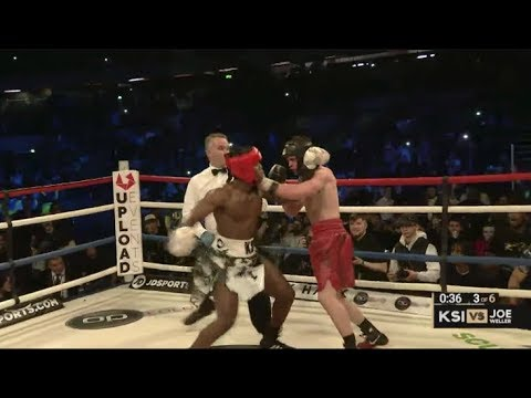 KSI VS JOE WELLER FULL FIGHT HIGHLIGHTS REACTION!! (видео)