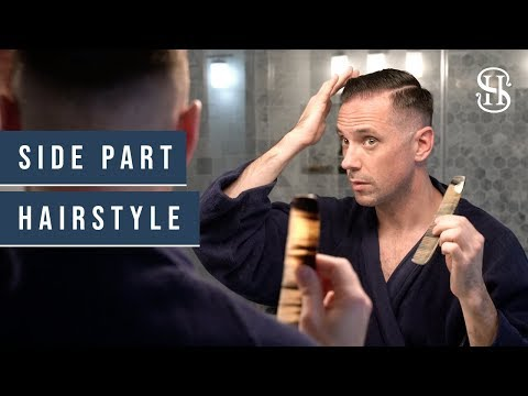 Mens hairstyles - Side Part Hairstyle Tutorial  Classic Men's Side Part  How I Style My Hair