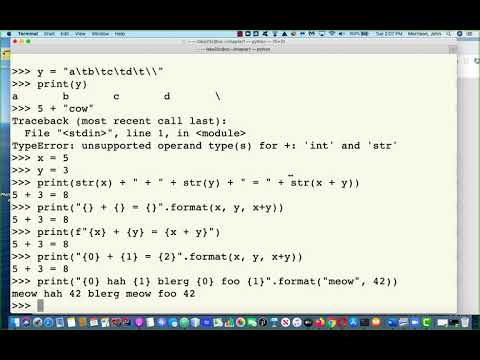 chapter0Part5, Text Formatting with Strings and Writing a Python Program