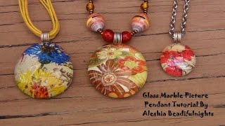 Glass Marble Picture Pendant Tutorial - YouTube