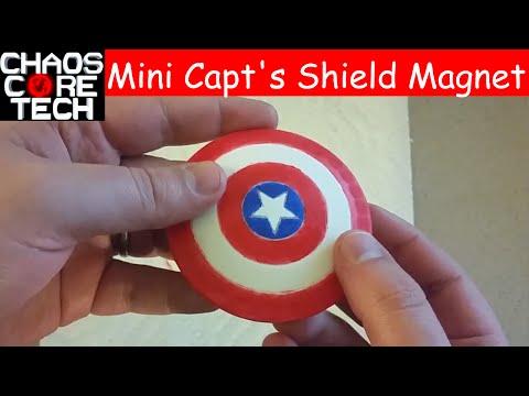 3D Printed Mini Captain America Shield Magnet