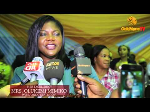 FIRST LADY OF ONDO STATE AT BON AWARDS READING WITH PROMINENT ACTORS