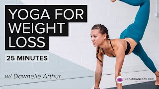 Yoga for Weight Loss 1 - 20 min version - YouTube