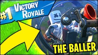 FORTNITE - THE BALLER VICTORY ROYALE GAMEPLAY (*ALL* BALLER SPAWN LOCATIONS)